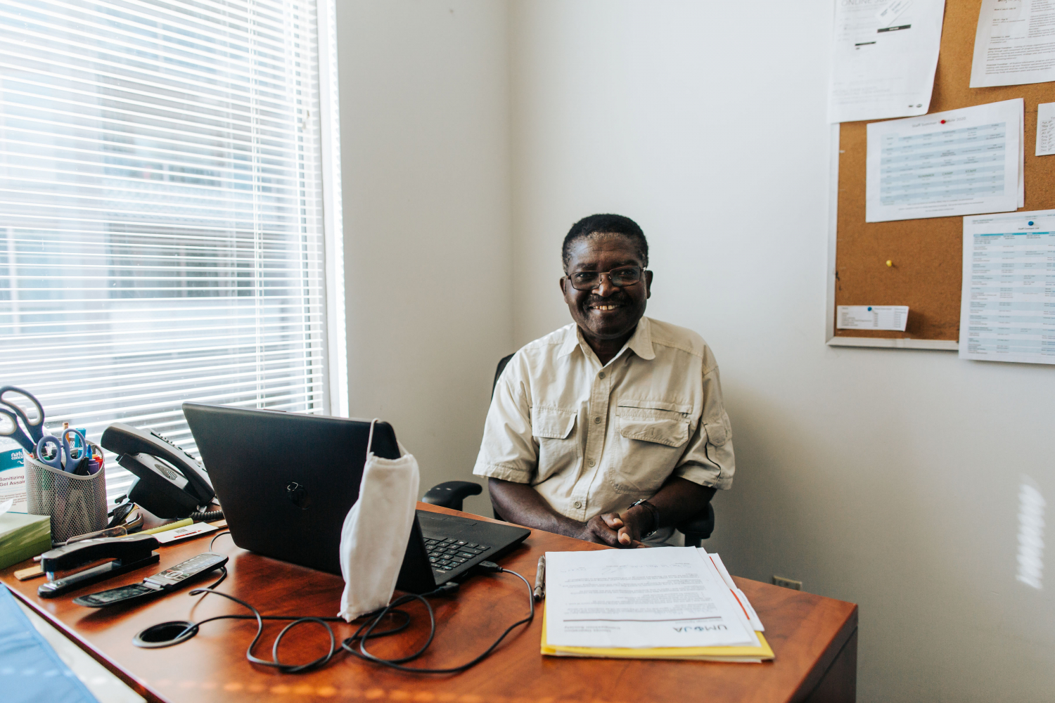 Amos Kambere is the executive director of Umoja, which serves newcomers in Surrey, BC.