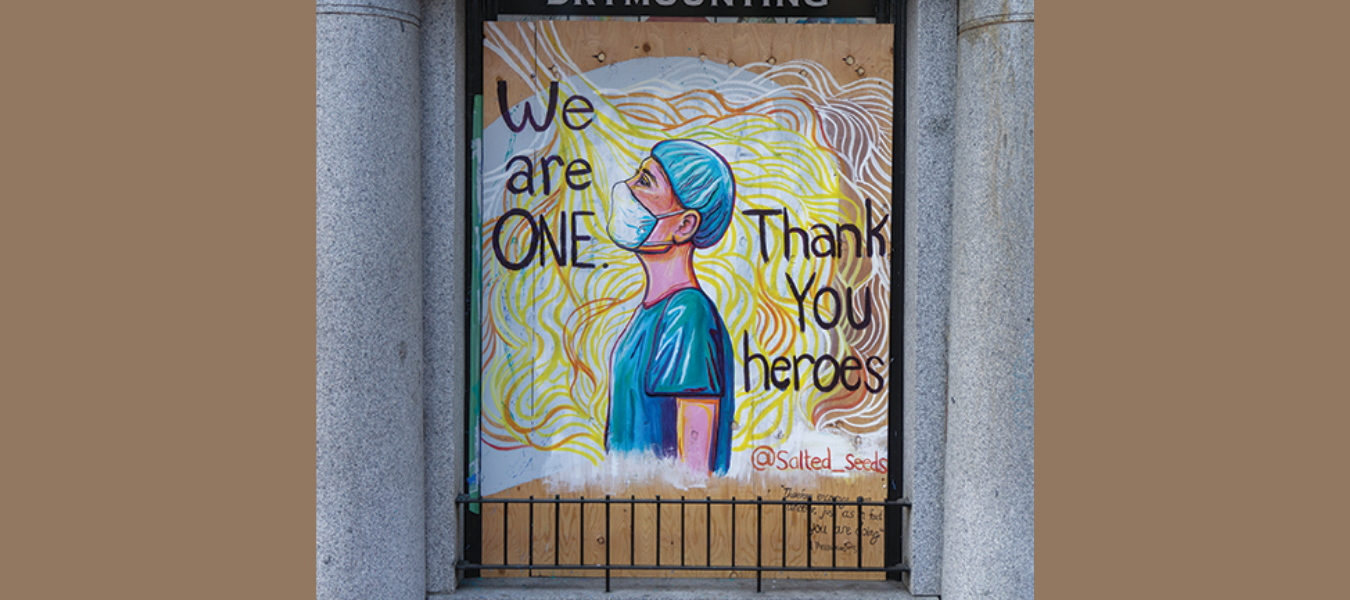 We are One is a Gastown mural by Marina Ross.