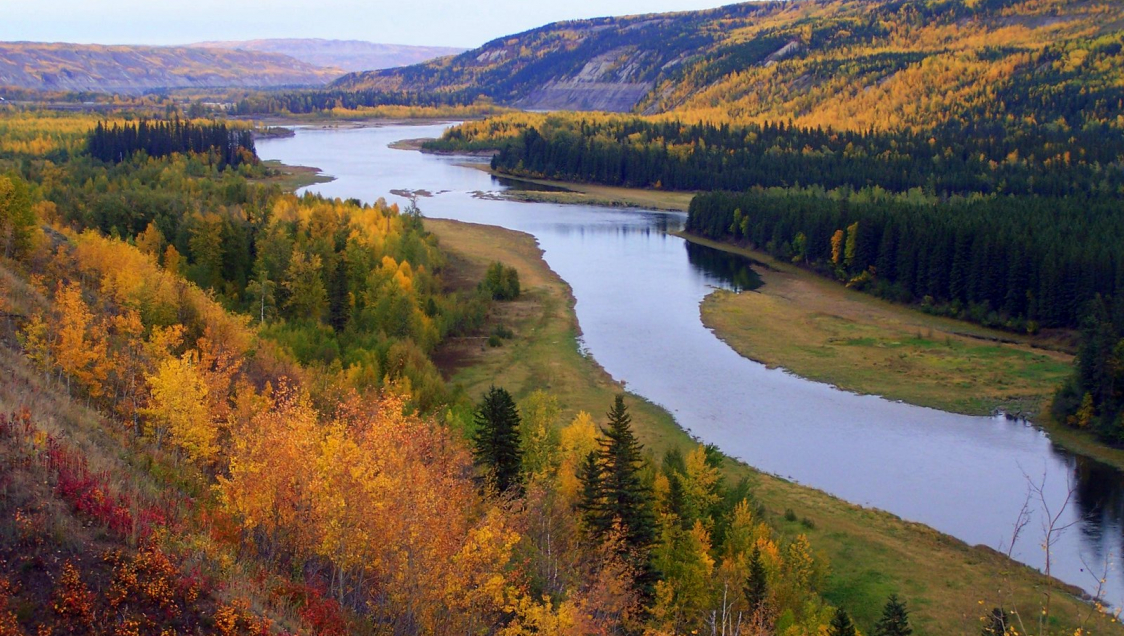 Peace River in the Fall