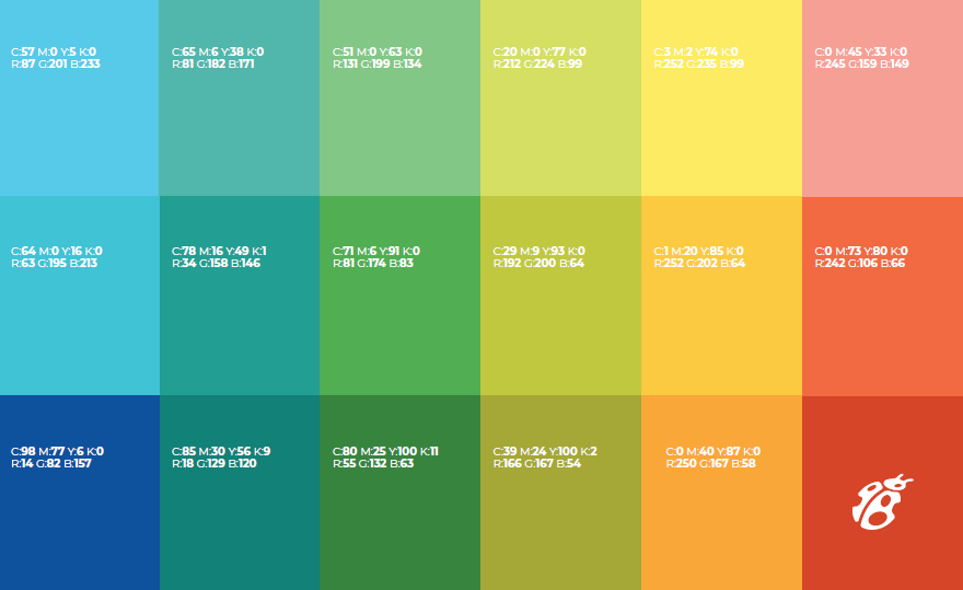 Brand colour palette for Neighbourhood Small Grants
