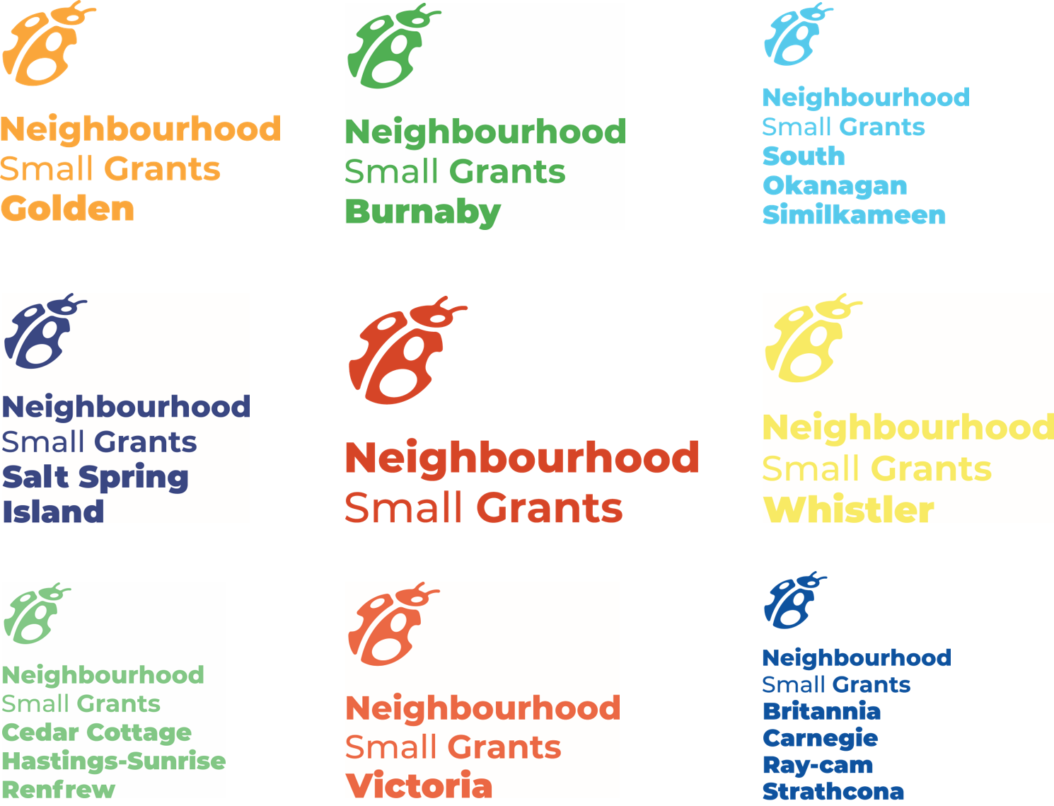 New logos for Neighbourhood Small Grants