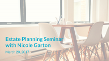 Estate planning seminar with Nicole Garton