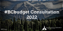 Consultations for BC Budget 2022