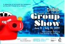 Downtown Eastside Small Arts Grants Group Show Postcard