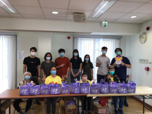 At the Simon KY Lee Foundation, youth volunteers help give out gift packs to seniors
