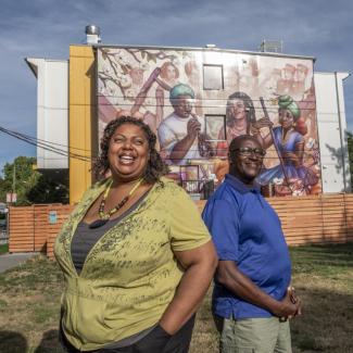 Siobhan Barker and Lama Mugabo from Hogan's Alley Society.