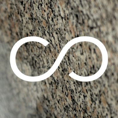 Infinity symbol over an abstract background.