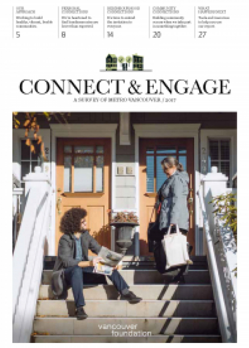 "report cover with title ""Connect & Engage : A Survey of Metro Vancouver 2017"""