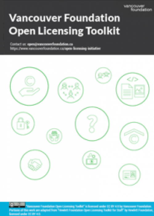 the report cover for the Vancouver Foundation's Open Licensing Toolkit