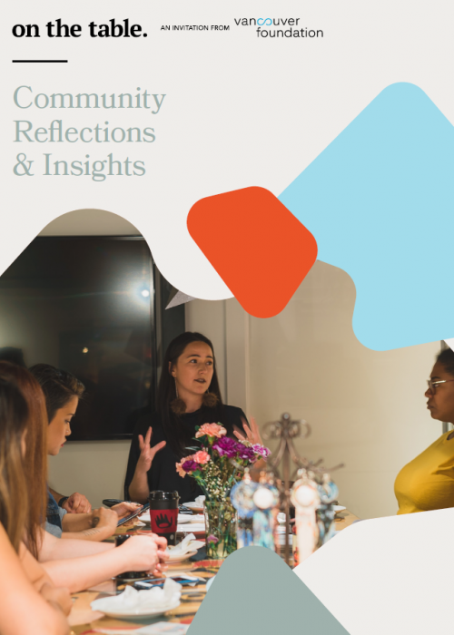 On The Table Community Reflections and Insights Report cover