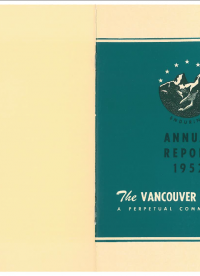 Vancouver Foundation Annual Report 1952