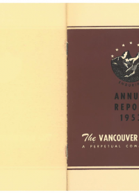 Vancouver Foundation Annual Report 1953