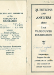 Vancouver Foundation Annual Report 1946-1947
