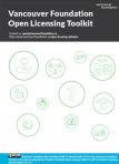 Vancouver Foundation Open Licensing Toolkit Cover Image